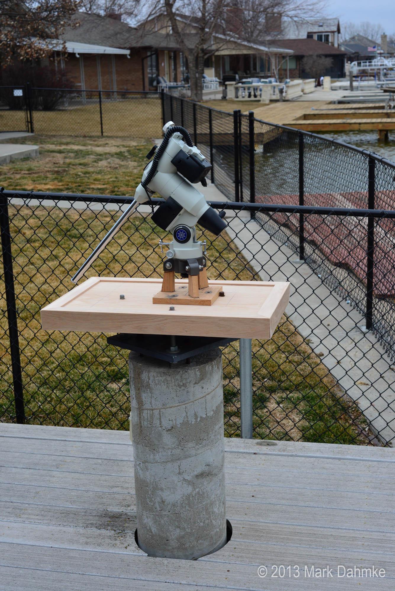 A backyard telescope mount enclosure mark dahmke photography